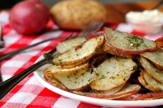 8-Baked-Herb-Potato-Slices