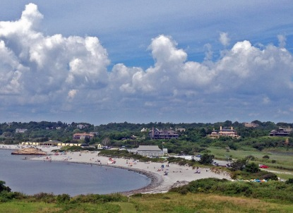 View of beaches in Newport